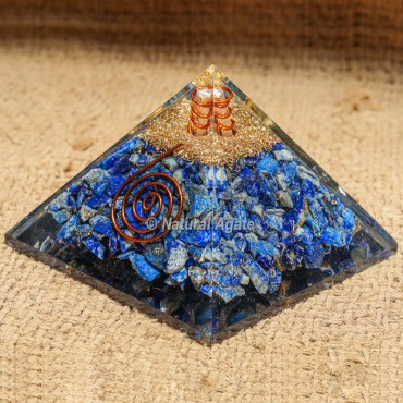 Lapis Lazuli Orgonite Protection Pyramid