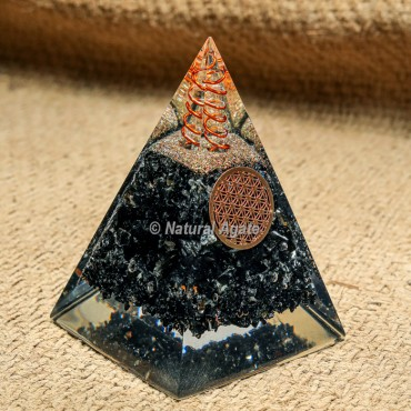 Black Tourmaline Nubian Orgonite Protection Pyramid