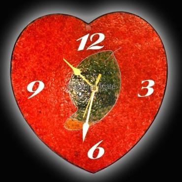 Orgone Energy Heart Shape Clock