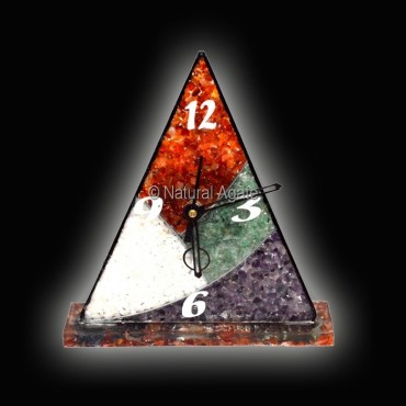 Multi Color Orgone Pyramid Clock