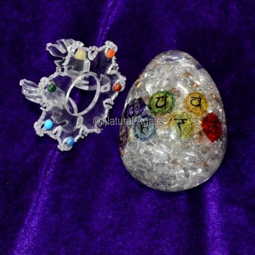 Orgone Chakra Symbol Eggs