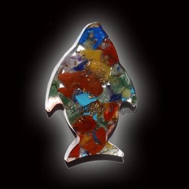 Orgone Fish Shape Seven Chakra Paper Weight
