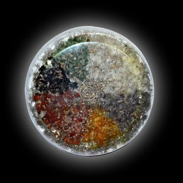 Orgone Eight Planet Round Vastu Plates