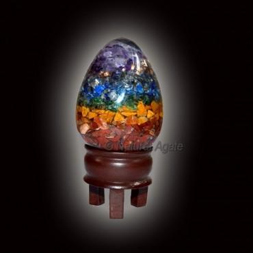 Seven Chakra Orgone Eggs