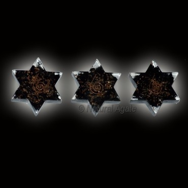 Orgone Black Tourmaline Star Paper Weight