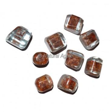 Peach Aventurine Orgonite Energy Tumbled Stones