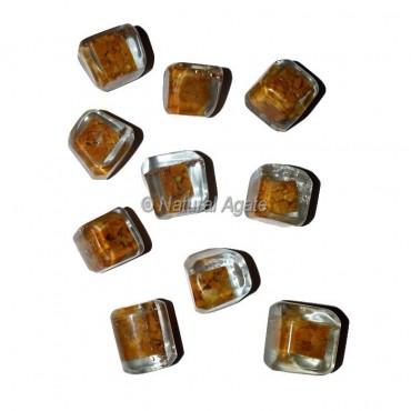 Yellow Jasper Orgonite Energy Tumbled Stones