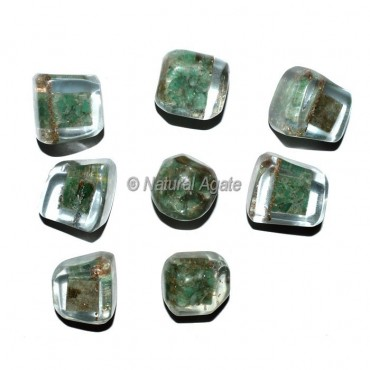 Green Aventurine Orgonite Energy Tumbled Stones