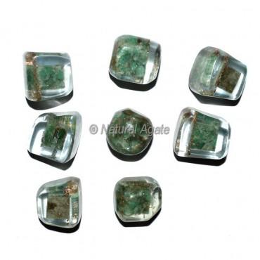 Green Aventurine Orgonite Energy Tumbled Stones