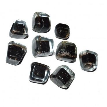 Black Tourmaline Orgonite Energy Tumbled Stones
