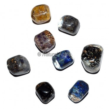 Mix Orgonite Energy Tumbled Stones
