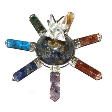 Merkaba Star With Seven Chakra Pencil Energy Generator