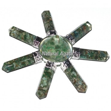Green Aventurine  7 Pencil Stone Generator