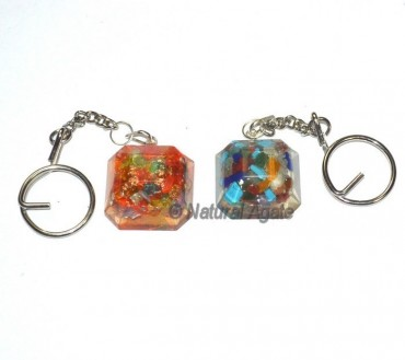 Faceted Cube Orgone Keyring