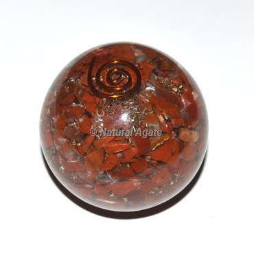 Red Jasper Orgone Sphere