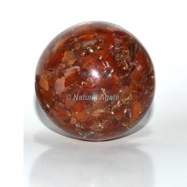 Carnelian Orgone Sphere