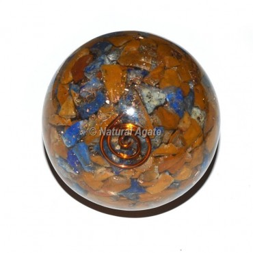 Mix Gemstone Orgone Sphere