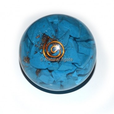 Turquoise Orgone Sphere