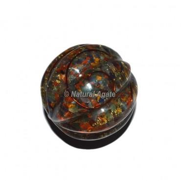 7 Chakra Chips Orgone Sphere