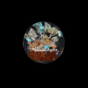 Turquoise Tree Orgone Sphere
