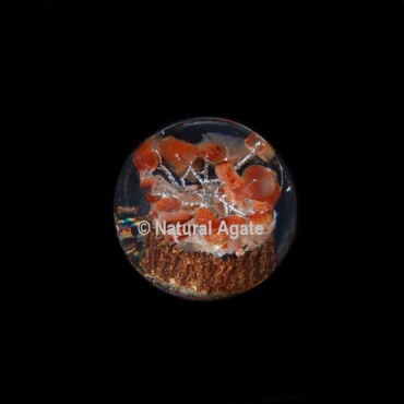 Carnelian Tree Orgone Sphere