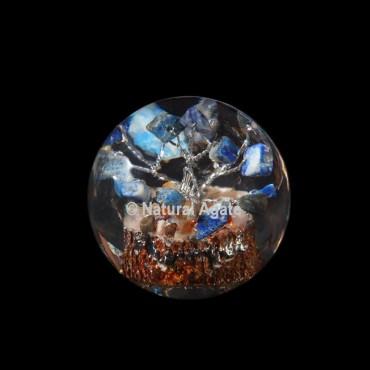 Lapis Lazuli Tree Orgone Sphere