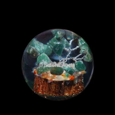 Green Jade Tree Orgone Sphere