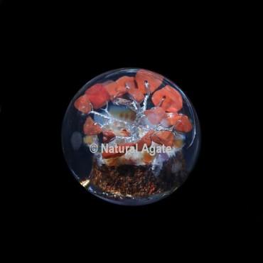 Red Jasper Tree Orgone Sphere