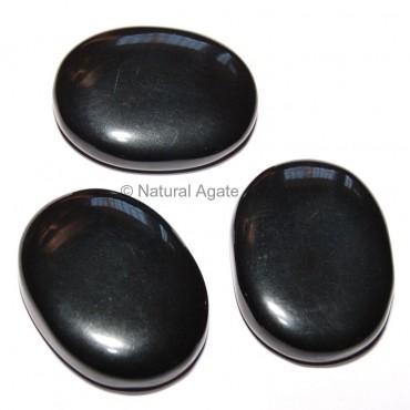 Black Agate Oval Cabochon