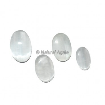 Selenite Oval Cabochons