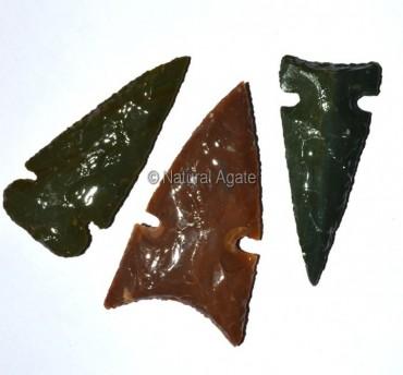 Polished Agate Arrowheads