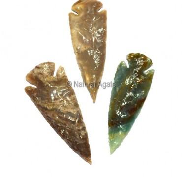 Polished Agate Indian Arrowheads