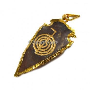 Choko Reiki Engraved Arrowhead Pendants