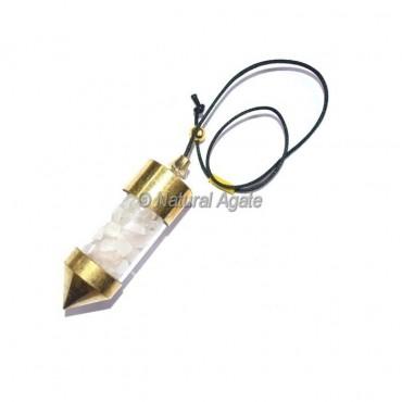 Rose Quartz Chamber Pendulums