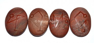 Embossed Stone Red Jasper Arch Angel Set