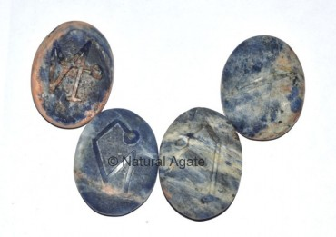 Embossed Stone Sodalite Arch Angel Set