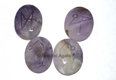 Embossed Stone Amethyst Arch Angel Set