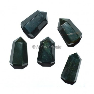 Blood Stone 6 Faceted Healing Points
