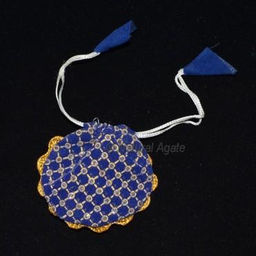 Fancy Blue Valvet Pouch