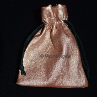 Brown Gold Packing Pouch
