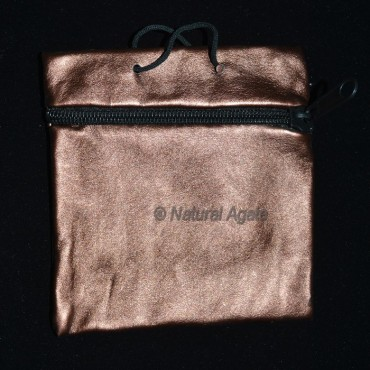 Golden Brwon Pouch with Chain