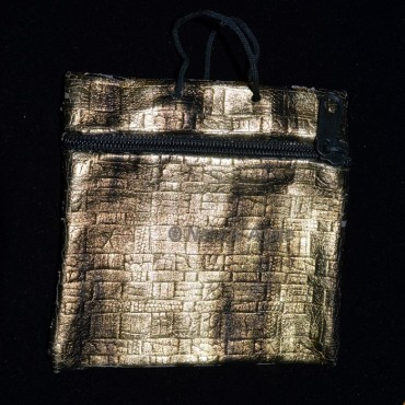 Grey Golden Pouch with Chain