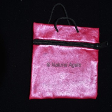 Pink pouch with chain