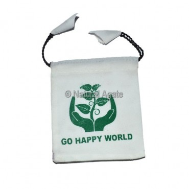 Happy Green White Pouch