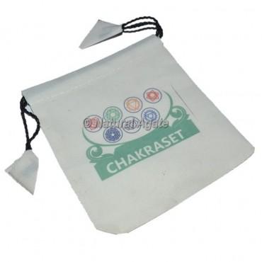 Chakra Symbol white Pouch