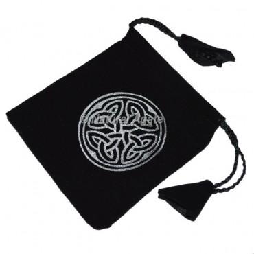 Celtic Chakra Symbol  Black Pouch