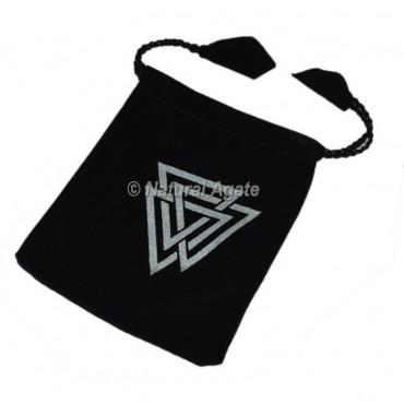 Reiki Symbol Black Pouch