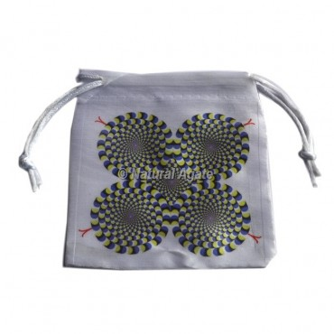 3D Flower Of Life Design On Pouch