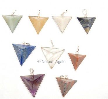 Mix Gemstone Traingle Pendants