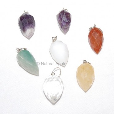 Mix Gemstone faceted drop